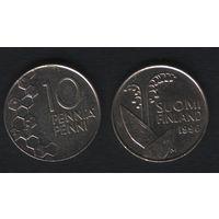Финляндия km65 10 пенни 1996 год (M) (f38)
