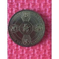 Памятный жетон церковный православные святые Монако Cathedrale de Monaco Диаметр 34 мм вес 15 гр.