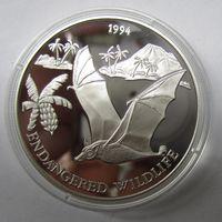 Самоа и Сисифо. 10 тала 1994 серебро, Летучая мышь  .4Е-6