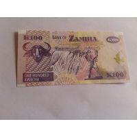 Замбия 100 квача 1992 год состояние UNC