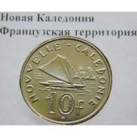 Новая Каледония 10 франков 2003 год