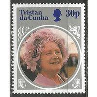 Тристан да Кунья. 85 лет королеве Елизавете-матери. 1986г. Mi#387.