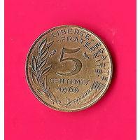 17-25 Франция, 5 сантимов 1966 г.