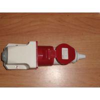 Переносная силовая вилка, 3Р+РЕ, номинальный ток 16 А, напряжение 380 В, степень защиты IP44