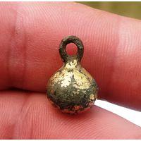 Пуговица-гирька с остатками позолоты