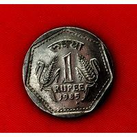 49-20 Индия, 1 рупия 1985 г. (м. д. - Бирмингем)