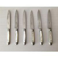 Нож. Ножи. Фруктовые ножи 6 штук. Комплект. Довоенная Германия. Перламутр. Редкость!