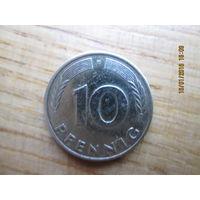 10 pfennig F 1982