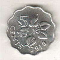 Эсватини (Свазиленд) 5 цент 2010