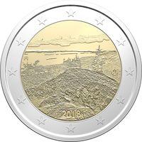 2 евро 2018 Финляндия Финский национальный пейзаж Коли UNC из ролла