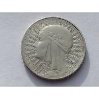 Y# 21 5 ZLOTYCH 11.0000 g., 0.7500 Silver 0.2652 oz. ASW, 28 mm.