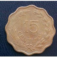 Парагвай 15 сентимо 1953