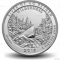 25 центов США 2019 г.  50 парк резерват имени Фрэнка Черча S