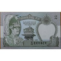 Непал. 2 рупия 1991 года. UNC