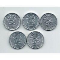 ЧЕХОСЛОВАЦКАЯ СОЦИАЛИСТИЧЕСКАЯ РЕСПУБЛИКА 10 ГЕЛЛЕРОВ. ПОГОДОВКА. Цена за одну монету.