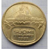 Финляндия 5 марккаа 1991г.  Ледокол Урхо.