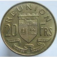 Реюньон 20 франков 1964 (а)