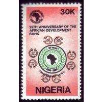 1 марка 1989 год Нигерия 25 лет банку