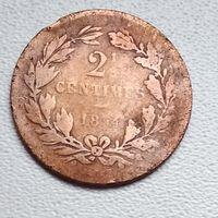 Люксембург 2,5 сантима, 1854 6-3-5