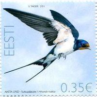 Эстония 2011 г. Фауна.  Птицы.  Птица года. Ласточка *