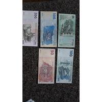 Набор банкнот конголезских  франков/КОНГО/