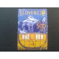 Словения 2000 горы, карета,500 лет почты в Словении Mi-6,5 евро гаш.