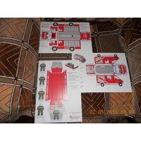 Модели пожарных автомобилей из картона