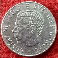 1 крона 1969 год Швеция, Король Густав VI Адольф