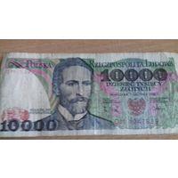 10000 злотых 1988 ПНР