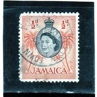 Ямайка. Ми-161.Пальмовые деревья. Серия: Королева Елизавета II и местные сцены (1956-58).