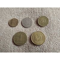 Эстония набор 5 монет 1992-2008