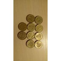 РАСПРОДАЖА ВСЕГО!!! Набор монет 1 Фунт Стерлингов Великобритании