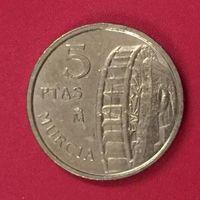 Испания 5 песет, 1999, Мурсия