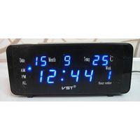 Настольные Сетевые LED часы VST-763WX, Будильник