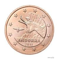 2 евроцента 2019 Андорра UNC из ролла
