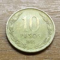 10 песо 1995 Чили