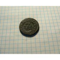 Деньга 1731 ПЕРЕЧЕКАН с Петровской копейки