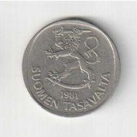 1 марка 1981 года Финляндии