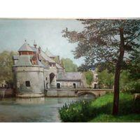 "Картина ""Старый замок"" конец XIX века"
