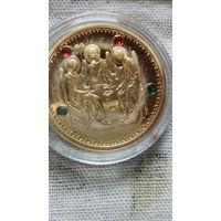 Монета 50 руб. 2008г. с изображением иконы и с цветными камнями. 13.  распродажа