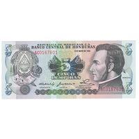 Гондурас 5 лемпира 1980 года. Состояние UNC! Редкий год!