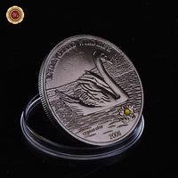 Монголия 500 тугриков 2006г. Лебедь. стразы. распродажа