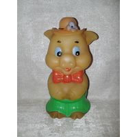 С 1 рубля! Свинья свинка в шляпке резиновая СССР
