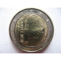 Финляндия 2 евро 2012г. 150 лет со дня рождения Хелены Шерфбек. (юбилейная) UNC!