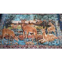 Ковер с оленями, гобелен  ковер настенный ГДР