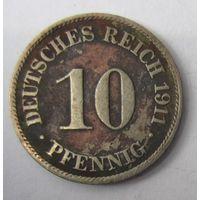 Германия. 10 пфеннигов 1911 J . 1-65