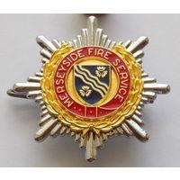 Кокарда пожарных Великобритании графство Мерсисайд