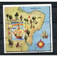 Гвинея-Бисау - 1983 - Корабли. Флот. Филателистическая выставка BRASILIANA 83 - [Mi. bl. 253] - 1 блок. MNH.