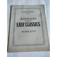 Старинная учебная тетрадь издательства AUGENER'S EDITION No5141. BERINGER'S school of EASY CLASSICS.SCARLATTI.1915 год.