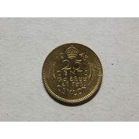 Цейлон 25 центов 1943г